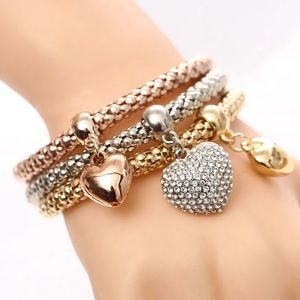 Jewelry - NEW set of 3 hearts charm bracelet